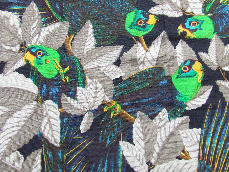 e6707175104 Hermès Les Perroquets Parrots Metz Cashmere Silk 90 cm Scarf Wrap Shawl