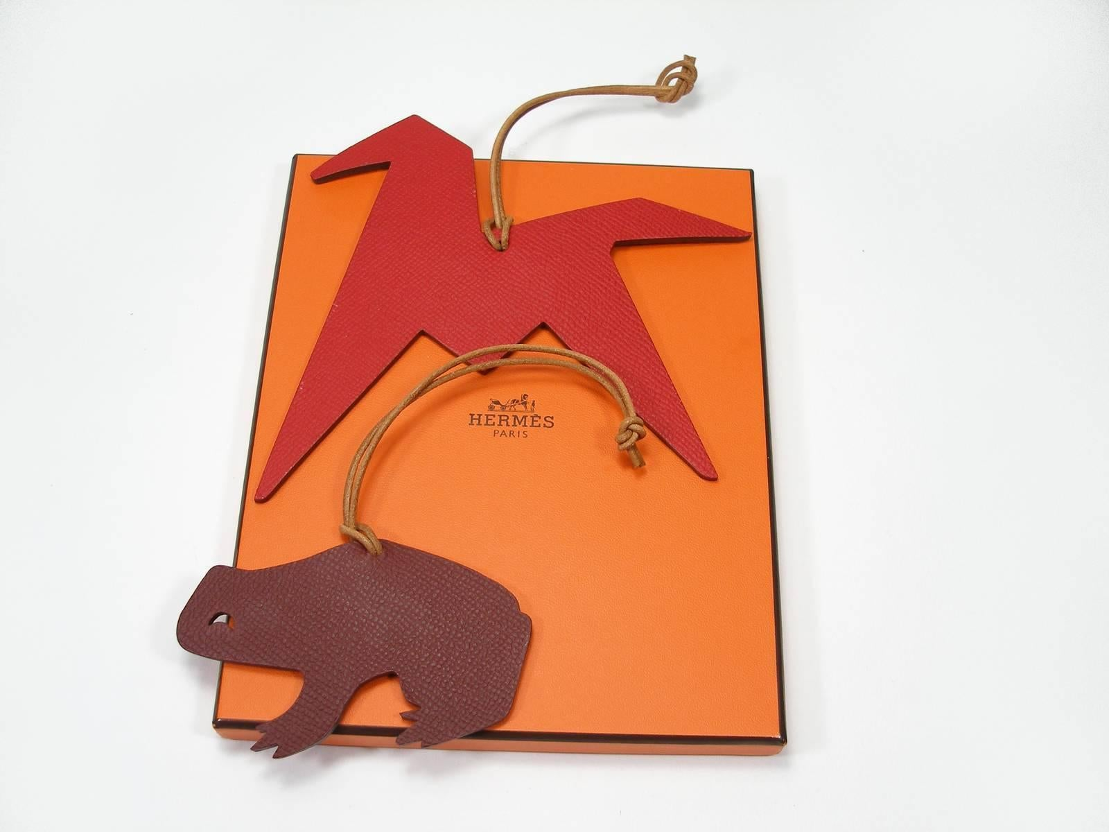 Hermès Hermes Charm Horse And Jockey In Bicoloured Green And Brown Leather VfpVyoZ
