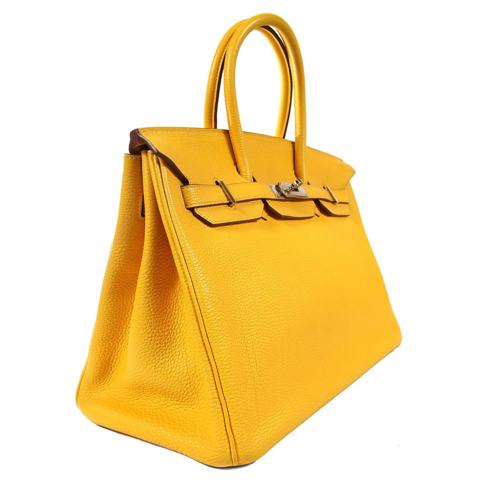 dff069774ea Hermès Soleil Yellow Togo 35cm Birkin Bag with Palladium at 1stdibs