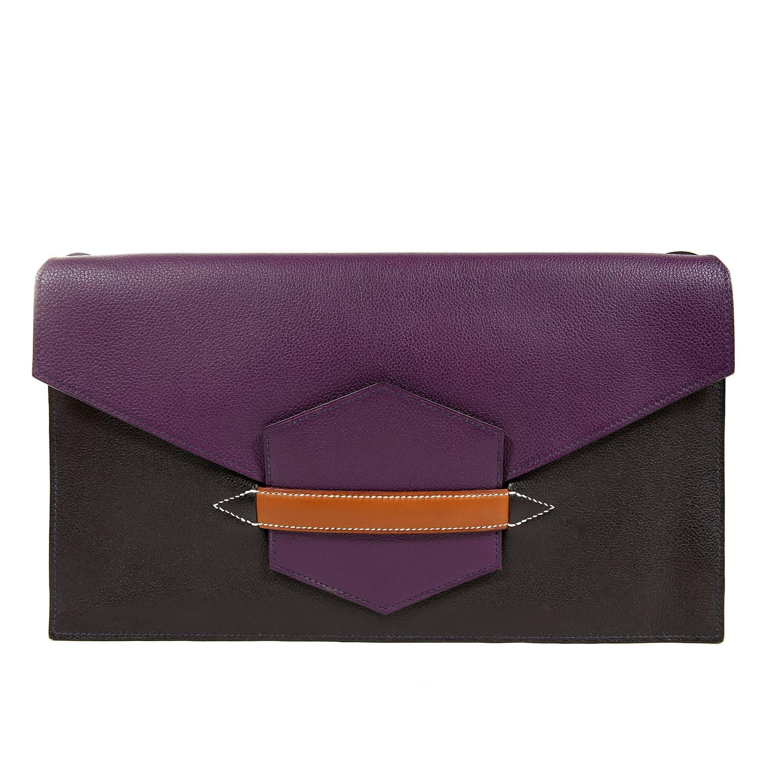 Hermès Tri Color Faco II Convertible Clutch
