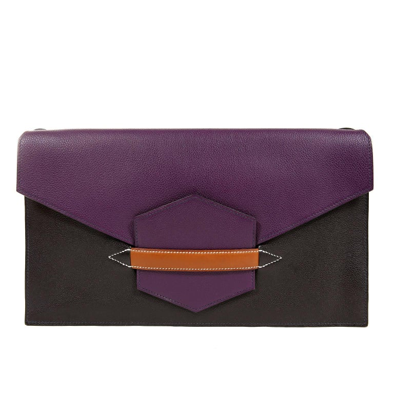 Hermès Tri Color Faco II Convertible Clutch