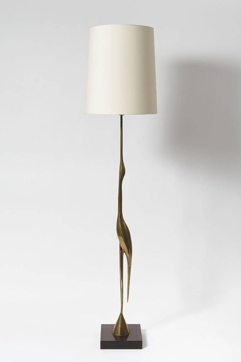 Heron Floor Lamp by Rene Broissand In Excellent Condition For Sale In Paris, FR