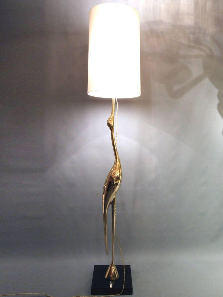 Mid-20th Century Heron Floor Lamp by Rene Broissand For Sale