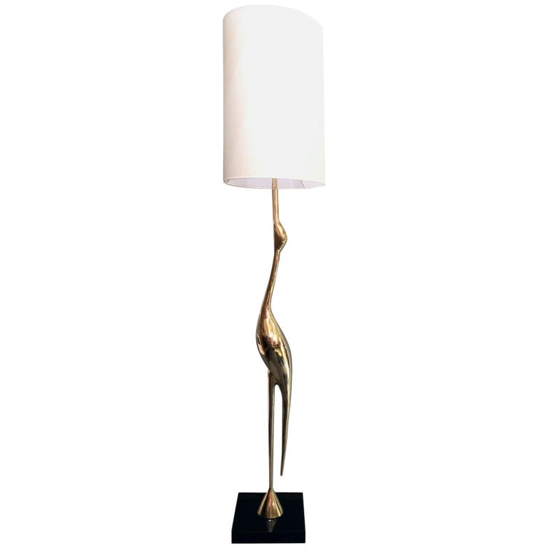 Heron Floor Lamp by Rene Broissand For Sale