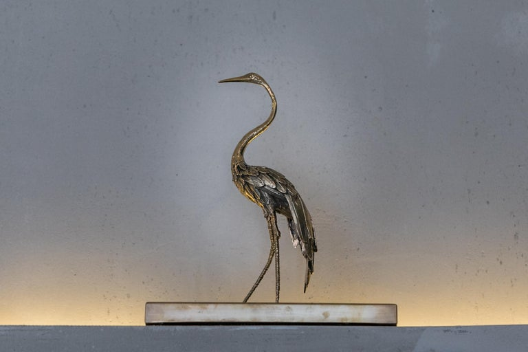 Italian Heron II Sculpture by Gianluca Pacchioni For Sale