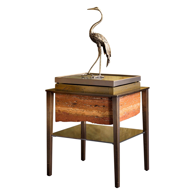 Heron II Sculpture by Gianluca Pacchioni