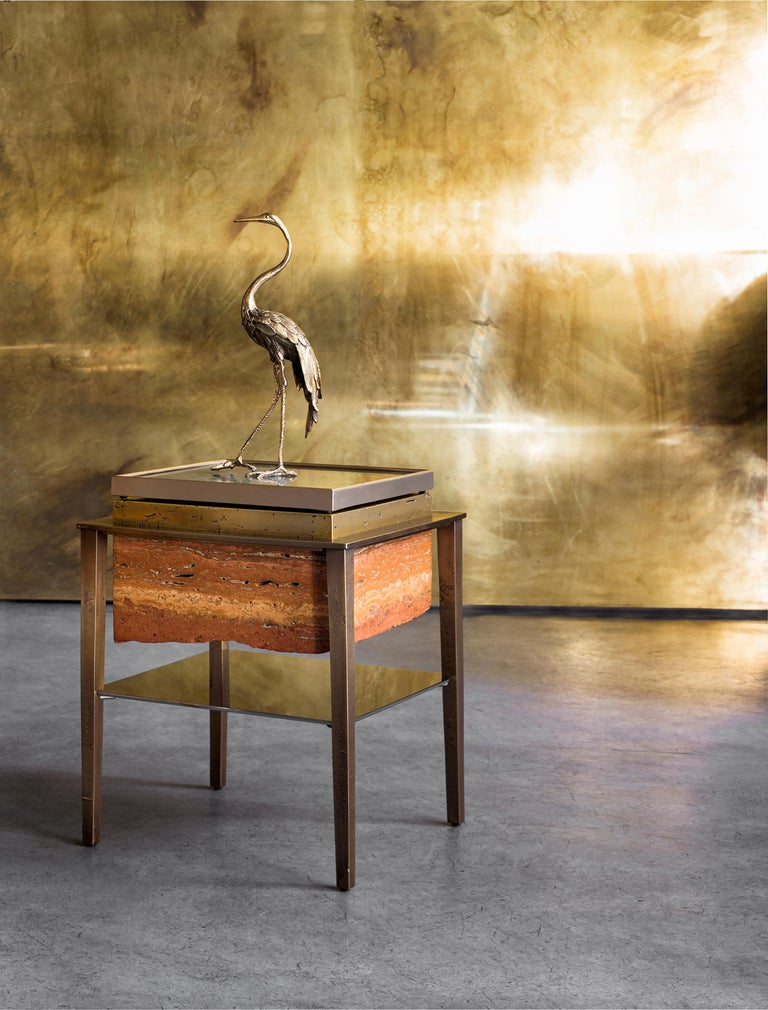 Contemporary Heron I Sculpture by Gianluca Pacchioni For Sale