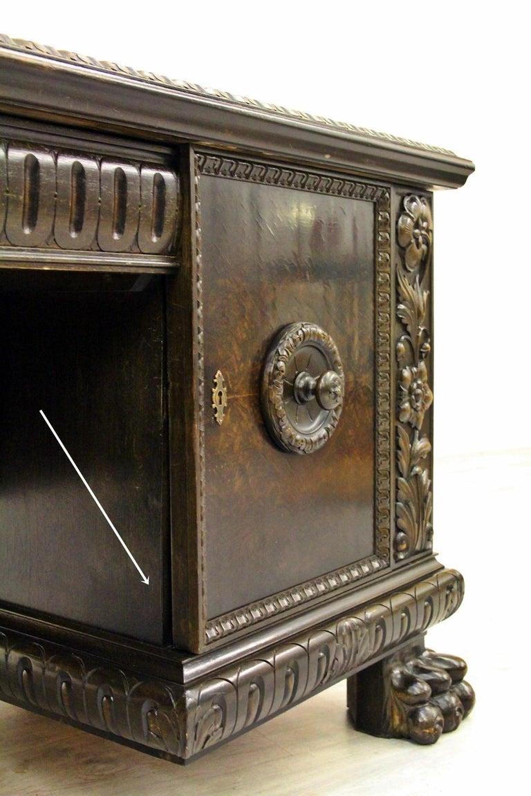 Herrenzimmer Tisch Löwentatzen Alt Antik Schreibtisch Büromöbel For Sale 6