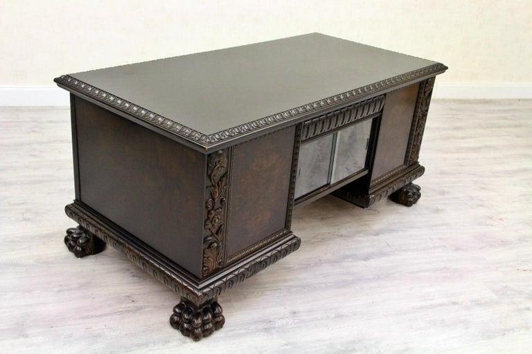 Herrenzimmer Tisch Löwentatzen Alt Antik Schreibtisch Büromöbel In Good Condition For Sale In Lage, DE
