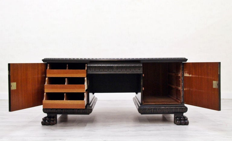 Herrenzimmer Tisch Löwentatzen Alt Antik Schreibtisch Büromöbel For Sale 3