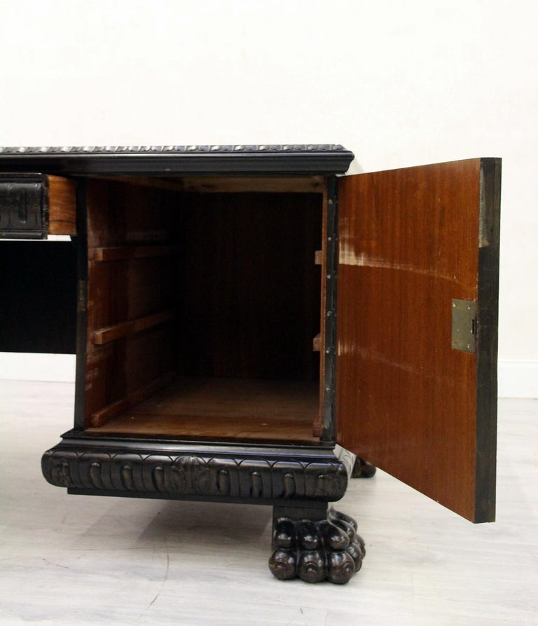 Herrenzimmer Tisch Löwentatzen Alt Antik Schreibtisch Büromöbel For Sale 4