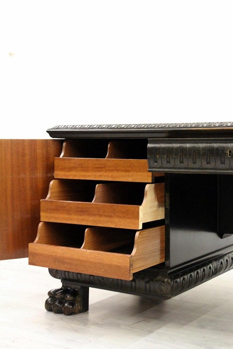 Herrenzimmer Tisch Löwentatzen Alt Antik Schreibtisch Büromöbel For Sale 5