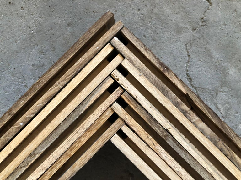 Herringbone Flooring French Antique Wood Oak 'Solid', France For Sale 2