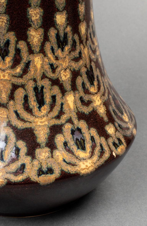 Herrsching German Jugendstil Ceramic Vase In Good Condition For Sale In New York, NY