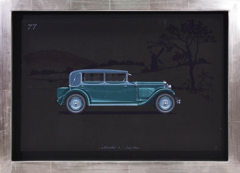 Cabriolet coachwork design by Alexis Kellner AG for the Cadillac 341-A.