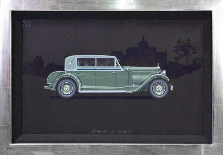 Herschu (Herbert Schultz) Still-Life Painting - Cabriolet coachwork design by Alexis Kellner AG for the Packard Custom Eight.