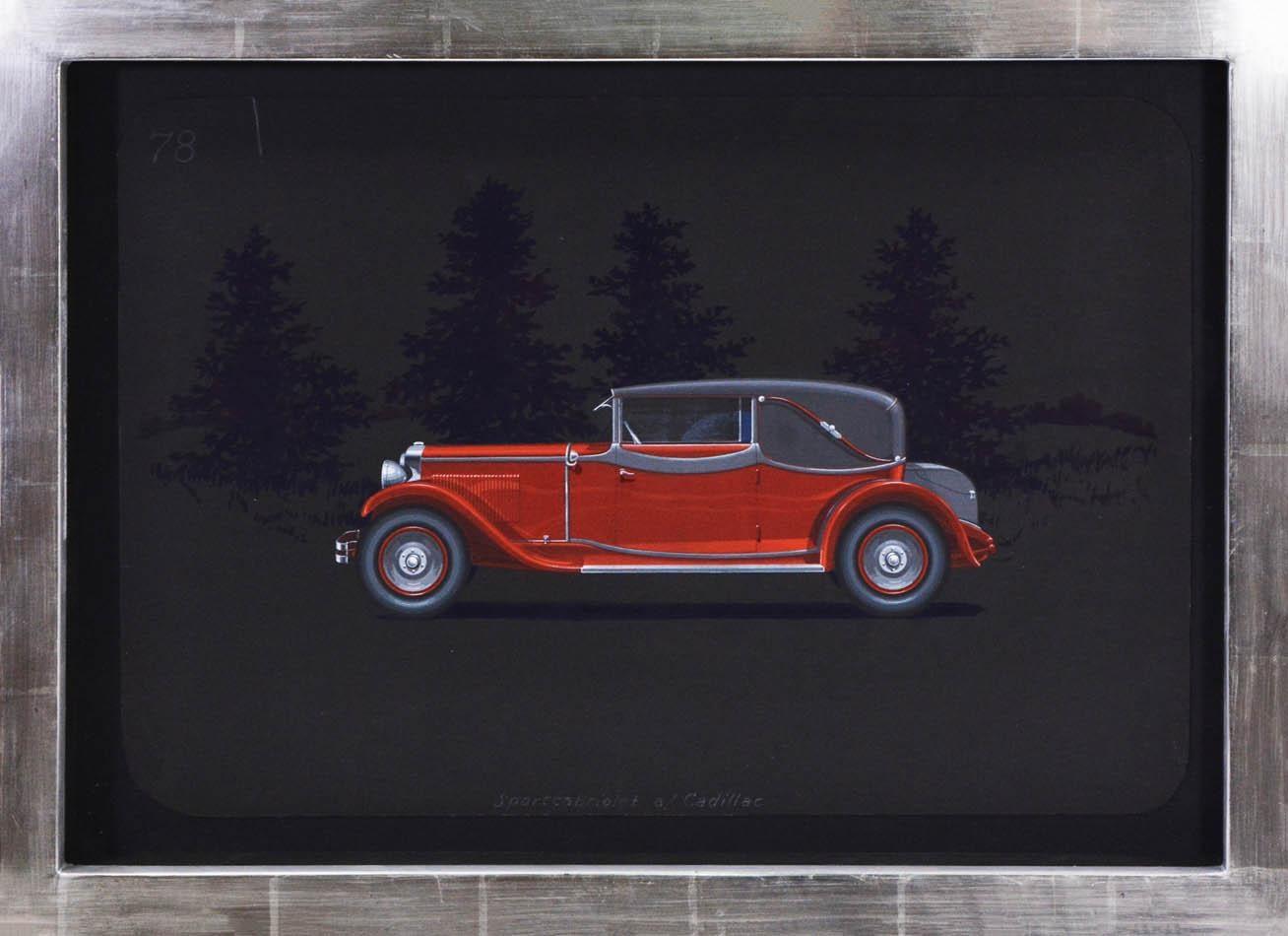 Sportcabriolet coachwork design by Alexis Kellner AG for the Cadillac 341-A.