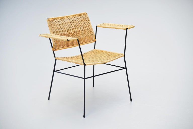 Herta Maria Witzemann Cane Armchairs Pair Germany 1954 In Good Condition For Sale In Roosendaal, Noord Brabant