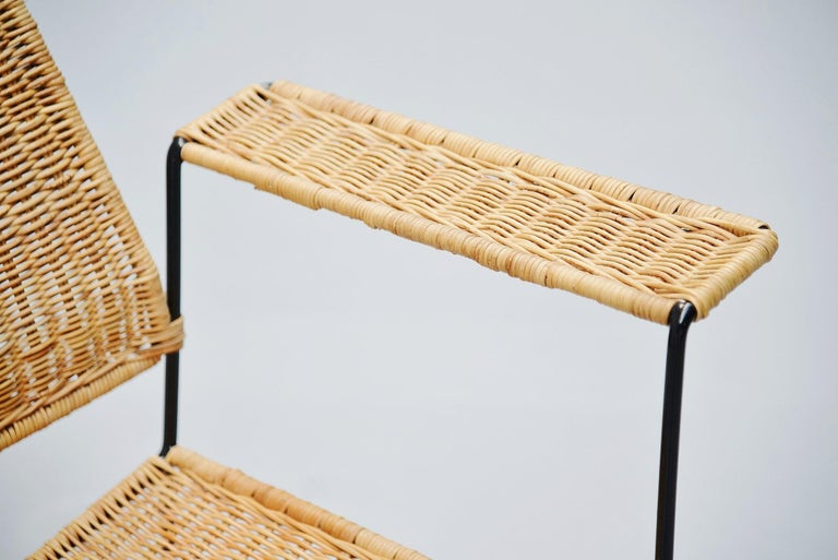 Mid-20th Century Herta Maria Witzemann Cane Armchairs Pair Germany 1954 For Sale