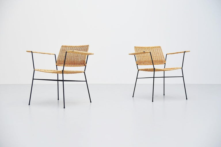 Herta Maria Witzemann Cane Armchairs Pair Germany 1954 For Sale 1