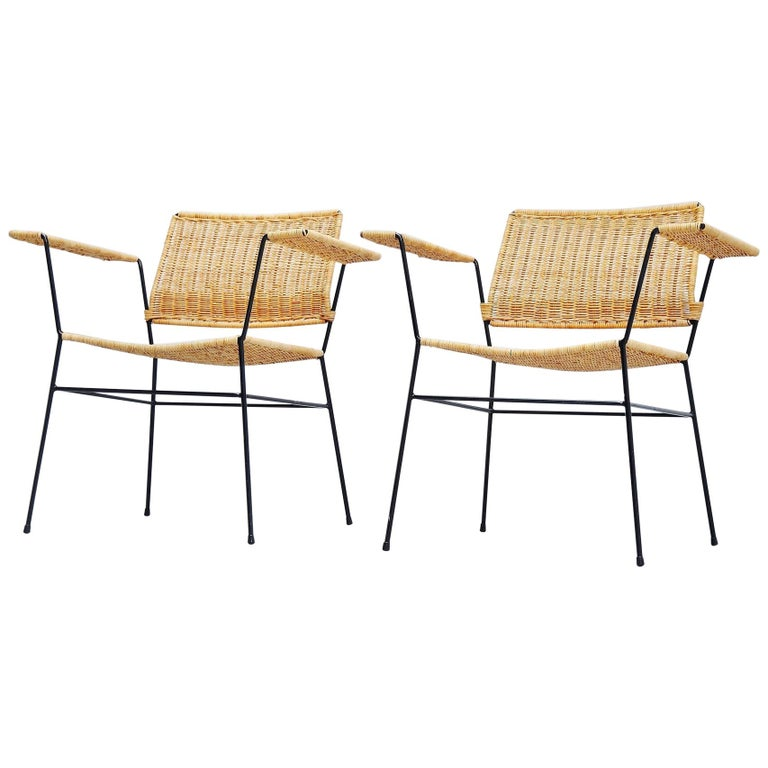 Herta Maria Witzemann Cane Armchairs Pair Germany 1954 For Sale