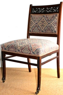 Herter Brothers (attributed) Black Walnut Upholstered Side Chair