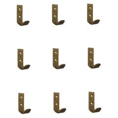 Hertha Baller Brass Wall Hooks Model 'Favoriten' 26 Pieces Available