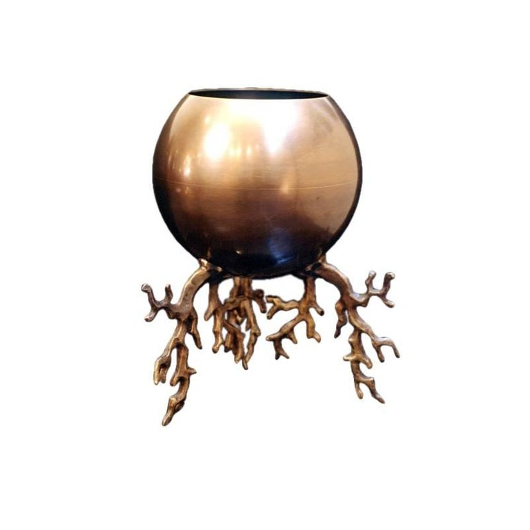 Bronze planter, new, originally designed in 2006, offered by Maison Gerard
