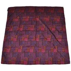 Herve Bernard Rich MultiColor Patchwork Silk Scarf