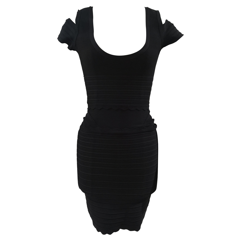 Hervé Léger Black Dress