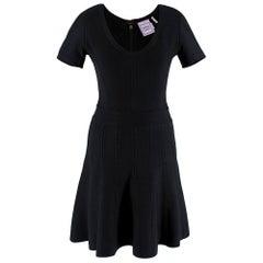 Herve Leger Black Trish Fit & Flare Black Dress S