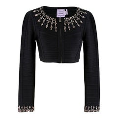 Herve Leger Duran Jewel Beaded Jacket M