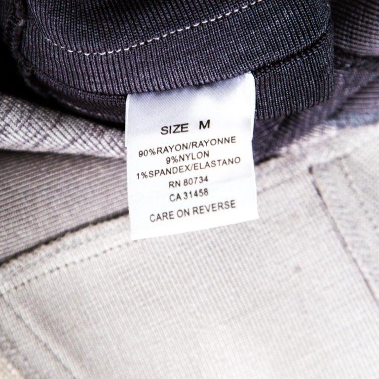 Herve Leger Grey Ombre One Shoulder Alexis Bandage Dress M For Sale 2