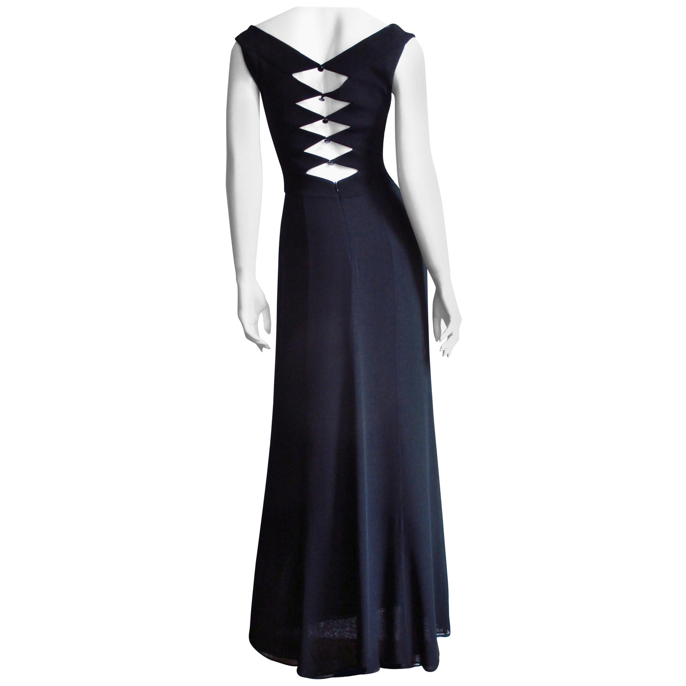 Herve Leger Maxi Dress with Back Cut outs