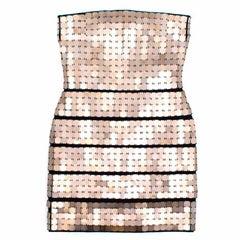 Herve Leger Minikleid Mit Goldenen Quadraten Dress (Size: US 4/XS)