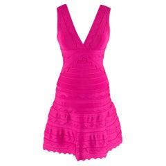 Herve Leger Nikayla Scalloped Edge Caprice Pink Dress  - Us size 6