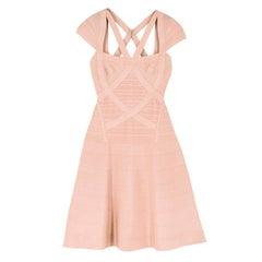 Herve Leger Nude Beatriz Essential A-line Dress S