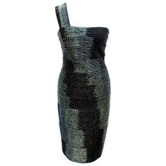 Herve Leger One Shoulder Bandage Dress S