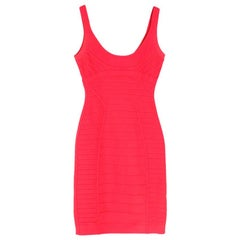 Herve Leger Pink Amanda Bandage Dress M