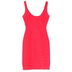 Herve Leger Pink Amanda Bandage Dress - Size Medium