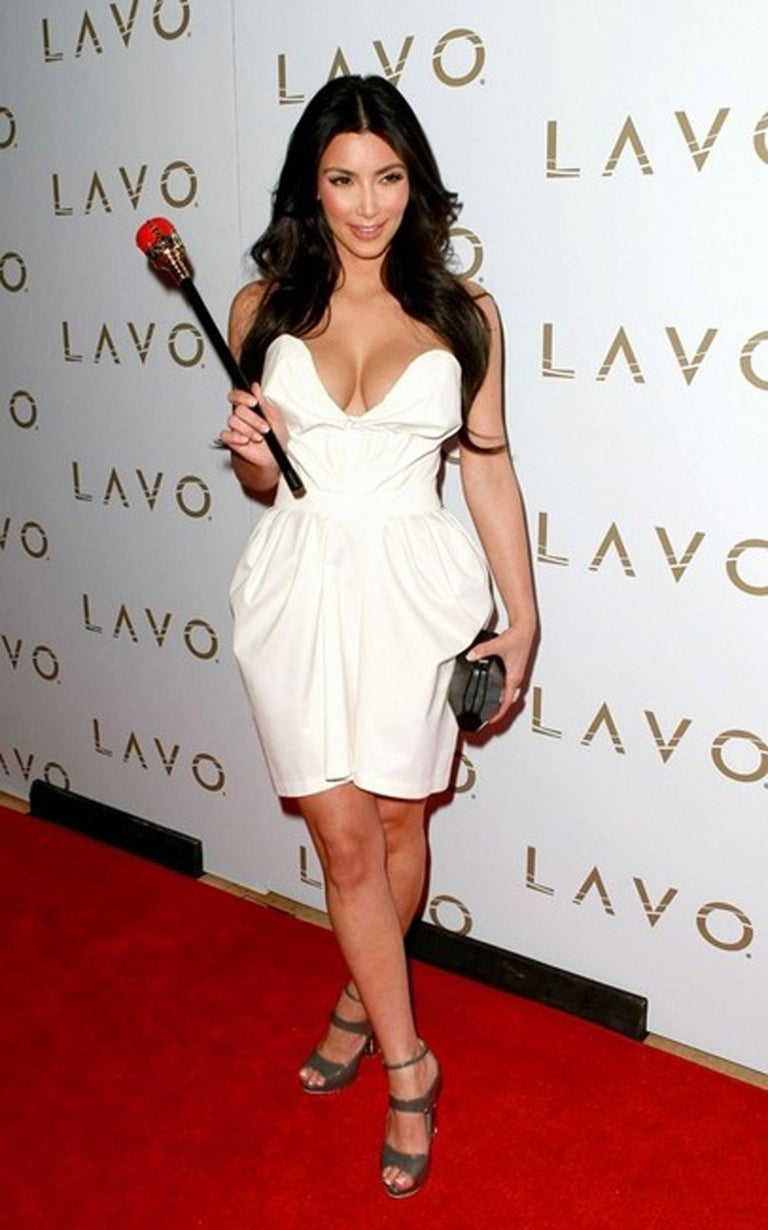 Super cool sold-out Herve Leger clutch as carried by Kim Kardashian. A sexy compliment to many evening outfits.