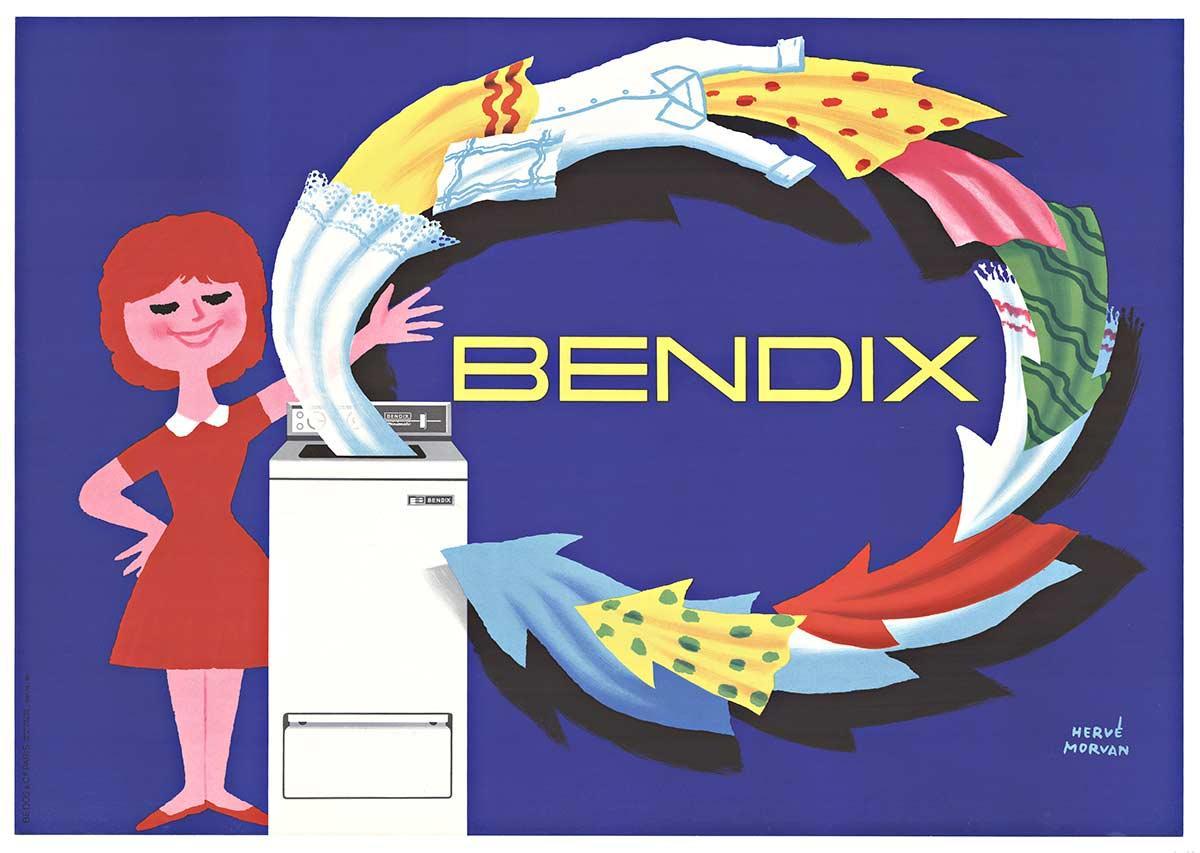 BENDIX, original French mid century poster