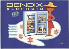 BENDIX ALUFROID original horizontal French poster