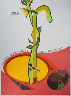 (Ecology) Germination, FIAC - Original vintage lithograph poster - Maeght 1982
