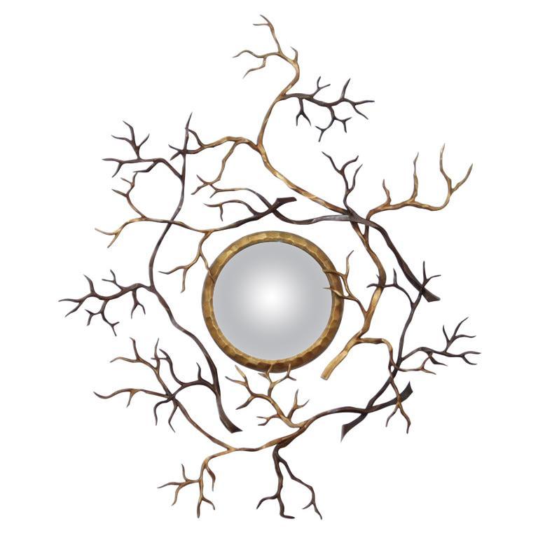 """Hervé van Der Straeten, """"Branches,"""" Bronze Mirror, France, 2008"""