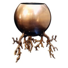 Hervé Van Der Straeten, Contemporary Bronze Planter, France, 2006