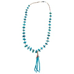 Heshi Turquoise Nugget Coral Necklace