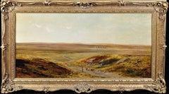 Stonehenge, Salisbury Plain.Original Victorian Landscape Oil Painting.Circa 1850