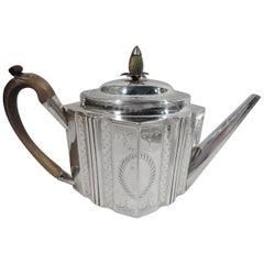 Hester Bateman English Georgian Neoclassical Teapot
