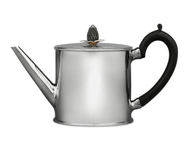 English Hester Bateman Georgian Silver Teapot
